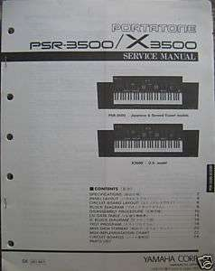 Yamaha Original Service Manual for the PSR3500, X3500 Keyboards
