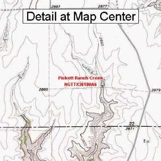 USGS Topographic Quadrangle Map   Pickett Ranch Creek, Texas (Folded