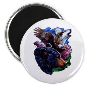 2.25 Magnet Bear Bald Eagle and Wolf: Everything Else