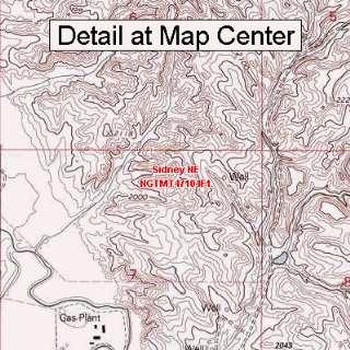 USGS Topographic Quadrangle Map   Sidney NE, Montana
