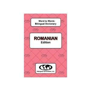 Romanian Word to Word® Bilingual Dictionary (English Romanian