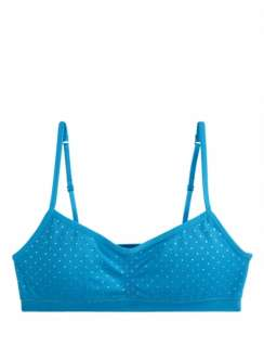 JUSTICE OH SO SOFT FOIL DOT PRINT PADDED SPORTS BRA 28