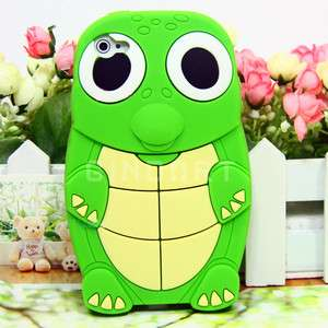 New Cool Turtle Design Silicone Case Back Cover Skin for Apple iPhone