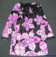 EMILIO PUCCI LADIES PINK/BLACK/WHITE SILK DRESS/UK 12/USED/MINT