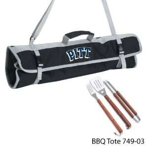 University of Pittsburgh Printed 3 Piece BBQ Tote BBQ set Black