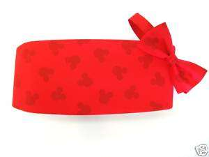 Red Mickey Mouse Silhouette Cummerbund and Bow Tie Set