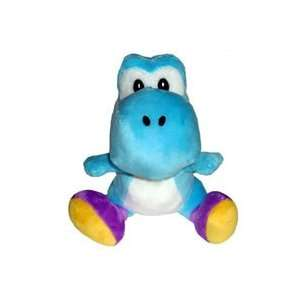 Super Mario Bros. Wii Plush   Light Blue Yoshi Toys