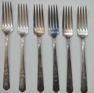 SIMEON L & GEORGE H ROGERS CO SILVERPLATE FLATWARE~26pc jasmine