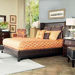 HOME Marlowe King size Bonded Leather Shelter Bed