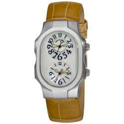 Philip Stein Womens Signature Sand Strap Dual Time Watch