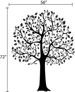 tree wall decal deco art sticker mural size 72 h x 56 w other sizes