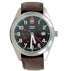 Swiss Army Womens Garrison Calfskin Strap Watch
