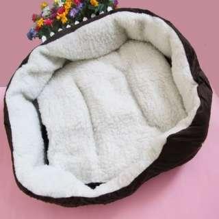 Colors Pet Puppy Dog Cat Kitten Soft Fleece Winter Warm Bed House