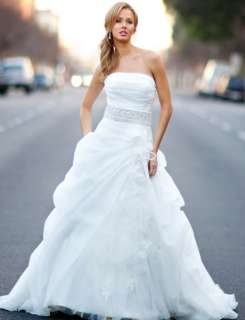 High Quality White A line outdoor Wedding Dress bridal Gown New