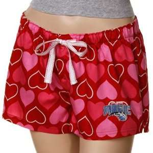 Orlando Magic Ladies Red Candy Hearts Boxer Shorts Sports & Outdoors