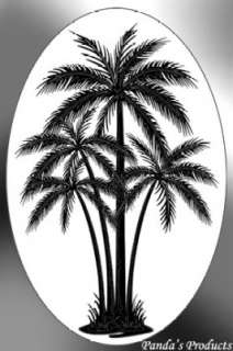 ETCHED GLASS DECAL Palm Tree C 21x33 Window Cling