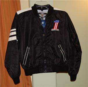 HARLEY DAVIDSON BLACK USA #1 AMERICAN FLAG NYLON HD JACKET LADIES
