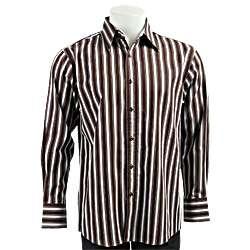 Bruno Mens Striped Woven Shirt