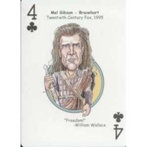 MEL GIBSON   Oddball BRAVEHEART Movie Playing Card Everything Else