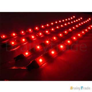 4x30cm Red 15 LED Car Truck Waterproof Light Strip New