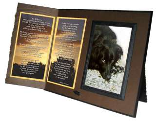 Still Here Poem Pet Loss Sympathy Frame Gift Rich Drk Brown w