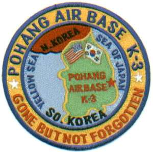 USAF BASE PATCH, POHANG AIR BASE, K 3, SOUTH KOREA