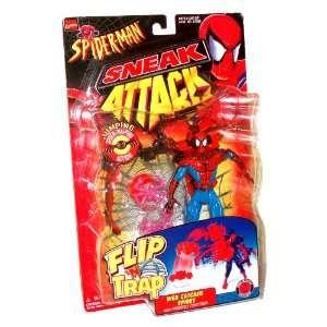 ToyBiz Year 1998 Marvel Comics Spider Man Sneak Attack Flip N Trap