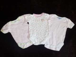 20 PIECES USED BABY GIRL LOT NEWBORN 0 3 3 6 MONTHS SUMMER CLOTHES LOT