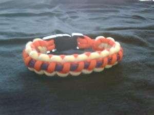 Clemson Tigers Color Paracord Survival Bracelet
