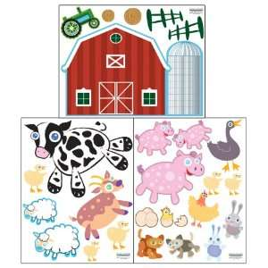 Farm Animal Wall Decals  Peel & Stick Baby Room Decor Stickers Baby