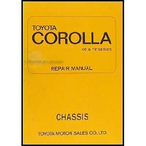 1970 1974 Toyota Corolla Chassis Repair Shop Manual