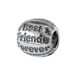 Zable(tm) Best Friends Forever Bead / Charm in 925 Sterling Silver