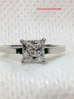 00 CARAT PRINCESS CUT ENGAGEMENT PROMISE RING SOLID STERLING SILVER