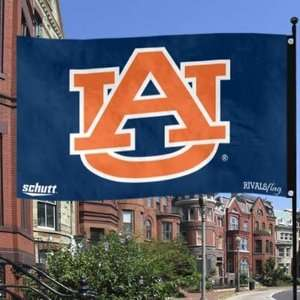 Schutt NCAA Auburn University TIGERS Eagles (2 sided) Rivals Flag 3X5