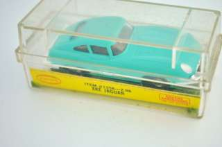 1963 70 AURORA HO SCALE JAGUAR XKE #1358 SLOT CAR LIGHT BLUE