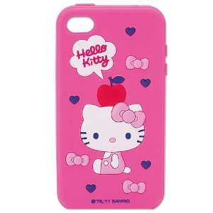 Hello Kitty Silicone Black Cover Case for iPhone 4 4s   Toys & Games