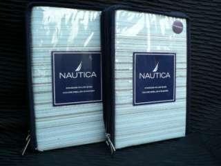 10PC NAUTICA AQUA Blue BROWN Duvet Cover SET QUEEN