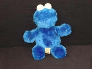VINTAGE 1992 APPLAUSE SESAME STREET BLUE COOKIE MONSTER PLUSH STUFFED