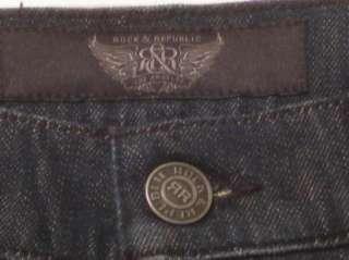 NEW ROCK & REPUBLIC Neil Sz 32, 34, & 36 Mens Straight Dark Jeans