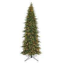 15 Angle Fir Slim Prelit Christmas Tree