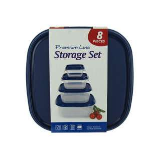 Square Plastic Food Storage Containers from