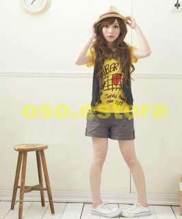 Cute Letters and Heart Prints Casual Short Sleeve T shirt Tops #T3102