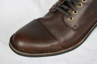 Haan Air Blythe Cap Toe Dark Brown Leather Mens Boots Shoes New