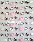 Hello Kitty Nail Art Decorative Stickers Decals Seals Heart Bow Knots
