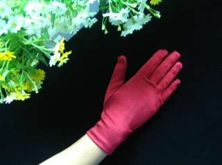 AU*Short Satin 9 Wrist Length Prom/Wedding Gloves#GV59