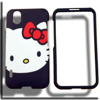 Case+Screen Protector for LG Marquee Optimus Black Hello Kitty P970