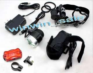 Lumens SSC P7 LED Bicycle bike Head + Rear Light Lamp Torch headlight