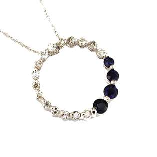 18in Gold plated CZ Circle Journey NecklaceLobsterFashionWeigth 0.2