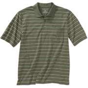 Puritan   Mens Short Sleeve Yarn Dyed Stripe Jersey Polo