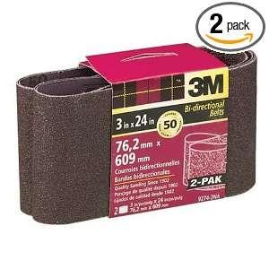 3M 9274NA 2 Heavy Duty Power Sanding Belt, 3 Inch x 24 Inch, Coarse